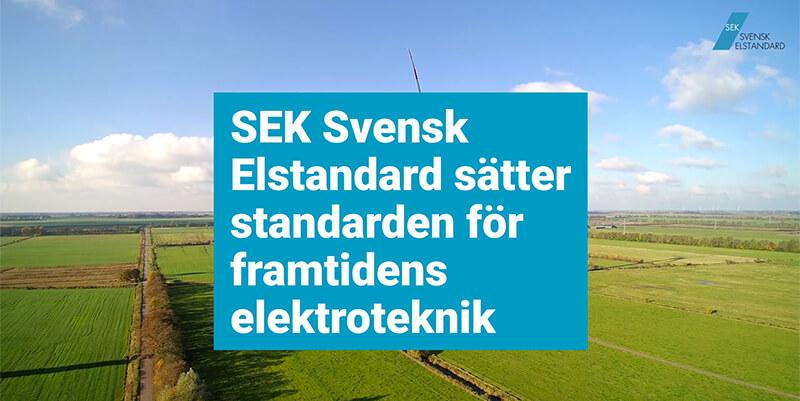 SEK Svensk Elstandard sätter standarden för framtidens elektroteknik
