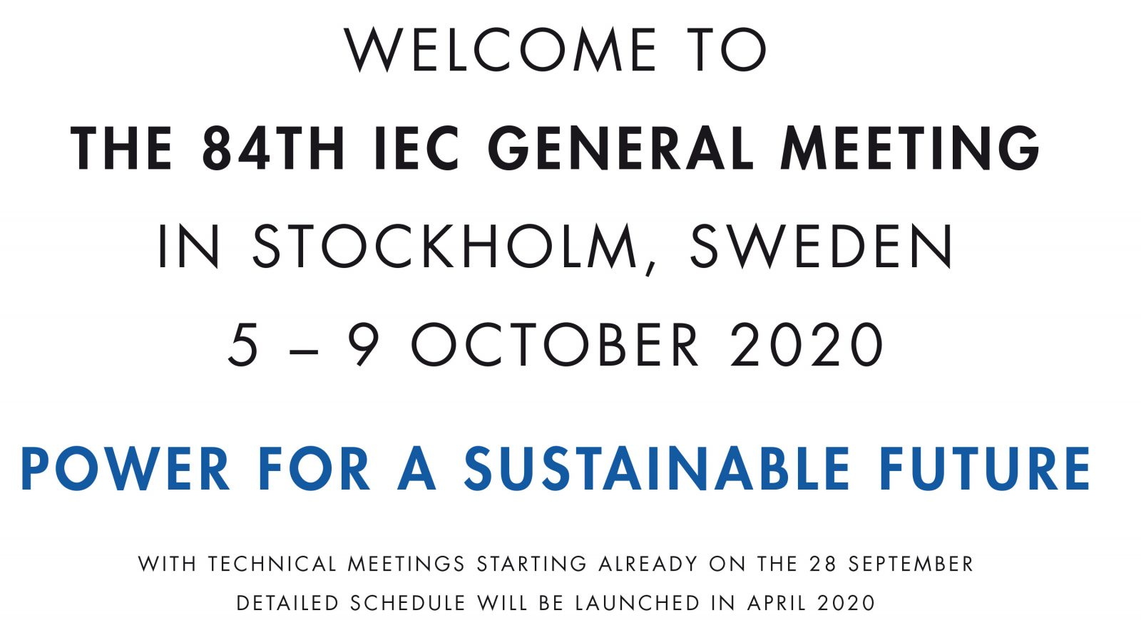 Welcome to IEC General Meeting 2020